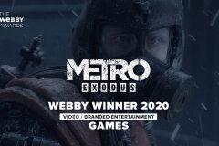 Metro Exodus wins Webby Award 2020!