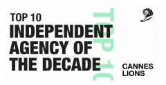 Serviceplan Ranks #5 in Top 10 Cannes Lions Independent Agency of The Decade