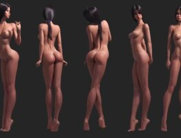 3d cartoon girl, female, sexy character