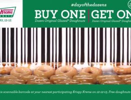 Krispy Kreme #dayofthedozens presents The World's Tastiest Coupon