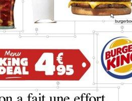 Menu King Deal 4,95€