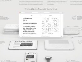 Dot translate. The First Braille Translator Based on AI.