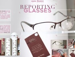 Reporting Glases - Eyes Illusion Opctics