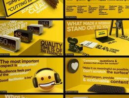 Infographic: What makes a perfect webinar (series of e-cards)