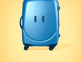 Happy Luggage Yellow