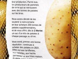 Redonnons la Patate aux Producteurs Francais