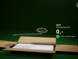 IKEA recycles its catalog in 100% green decoration