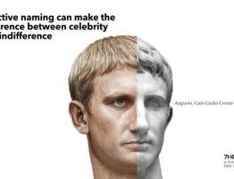 Effective naming can make the difference between celebrity and indifference
