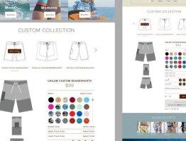Dunstan surfwear homepage - UI design