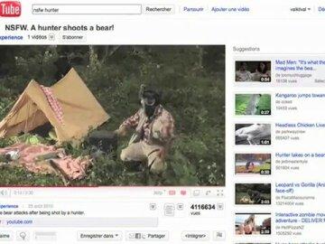A Hunter Shoots a Bear