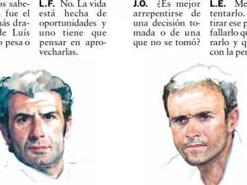 Double poster Figo - Enrique
