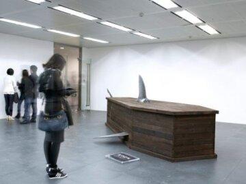 Wooden shark coffins 3
