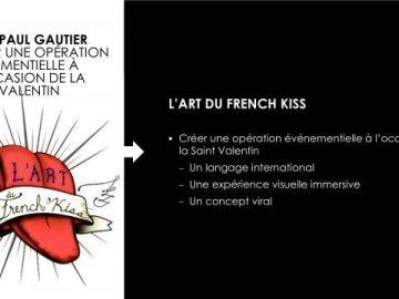 Opération événementielle digitale L'art du french Kiss