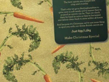 Carrots Christmas Wrapping Paper