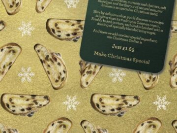 Stollen Christmas Wrapping Paper
