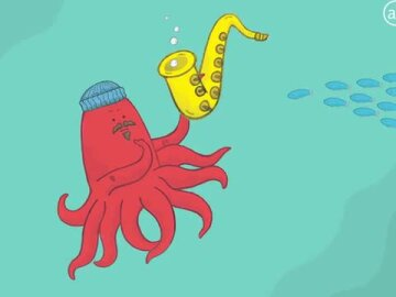 "Making of ""Simon the Saxophone-Playing Squid"""