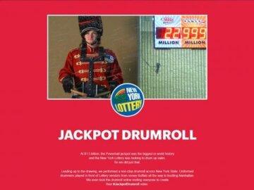 #JackpotDrumroll