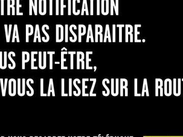 Votre notification ne va pas disparaître