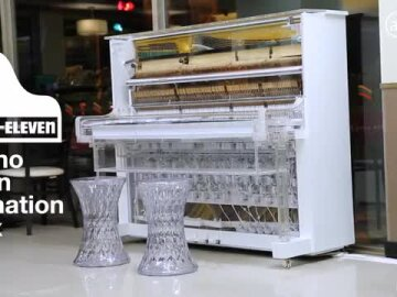 7-11 - Piano Coin Donation Box