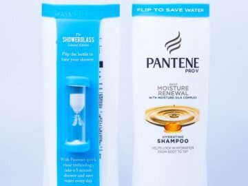 Pantene Pro-V ShowerGlass (silica band with hourglass)