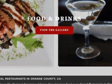 Squarespace Web Design For Restaurant Bar