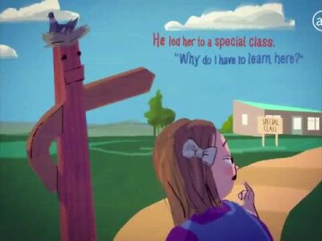 Lea goes to school