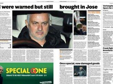 Jose Mourinhoshock sacking