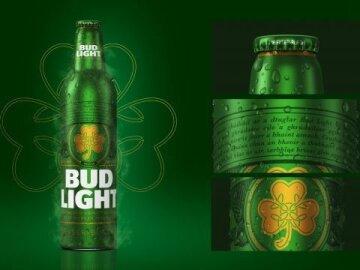 Bud Light St. Patrick's Day Bottles
