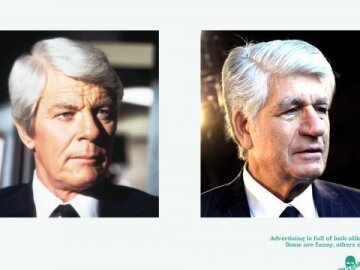 #lookalikejoelapompe 1 - Peter Graves vs Maurice Levy