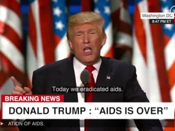 Trump eradicates AIDS