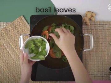 Basil Prawn Recipe