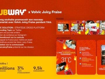 Subway x Volvic Fraise