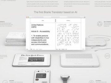 Dot translate. The First Braille Translator Based on AI.