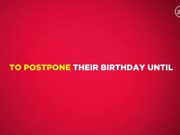 Postpone your Birthday