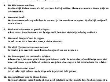 (Dutch) 20 levenslessen na 20 levensjaren
