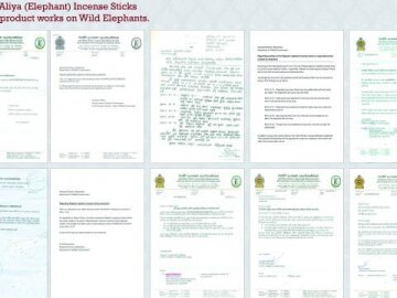 Wildlife Department's Confirmation letters