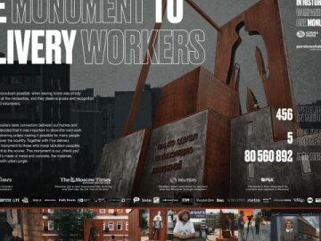 Monument to delivery workers