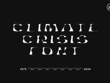 The Climate Crisis Font
