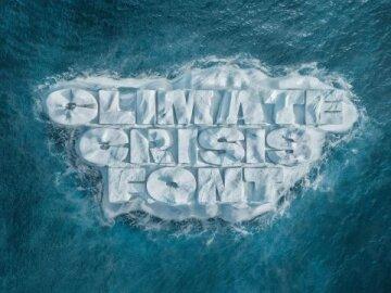 The Climate Crisis Font Visual