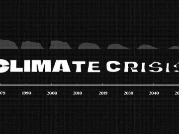 The Climate Crisis Font Visual 2