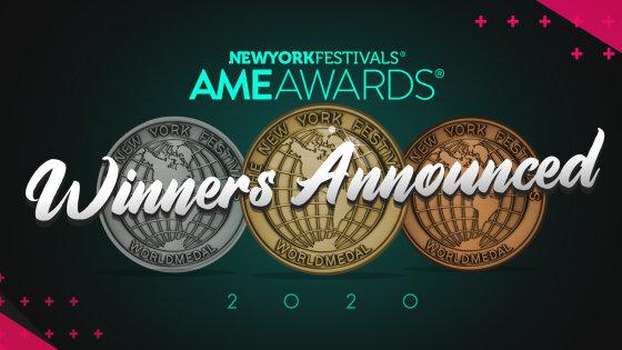 NYF AME Awards Announces 2020 Award Winners: AMVBBDO UK Earns AME Best of Show and Regional Platinum - Europe