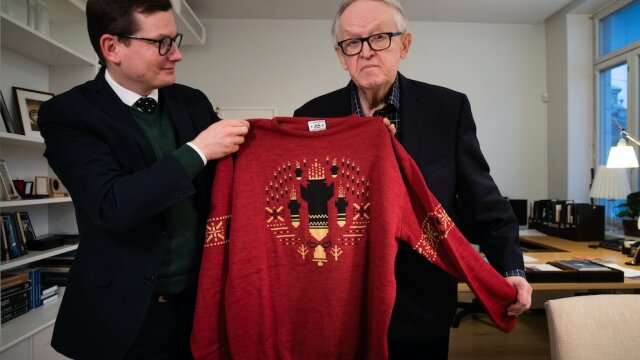 Helsingin Sanomat & TBWA Launched A Line Of Seasonal Sweaters Depicting The Year's Ugliest News Topics