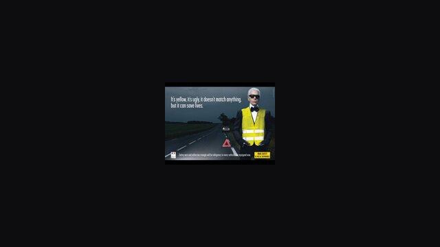 Lagerfeld's Yellow Vest