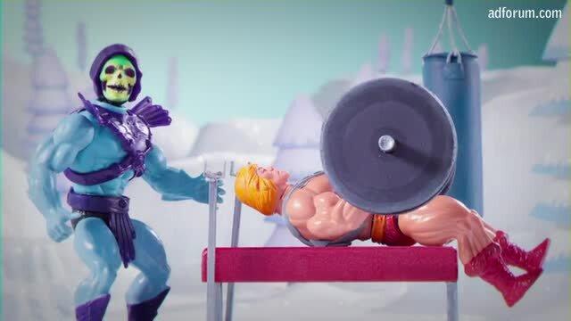 Skeletor and He-Man singing Jingle Bros