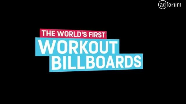 The Powerade Workout Billboards