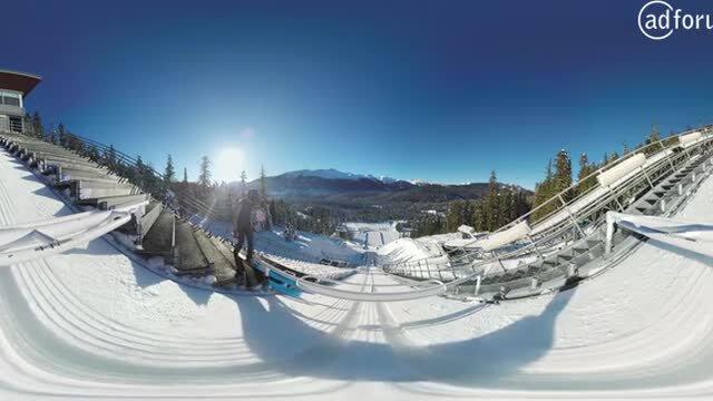 Ski Jump in 360°