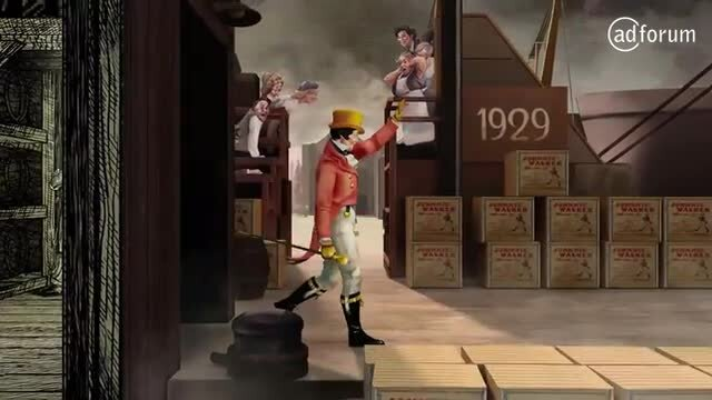 110 years of Striding Man