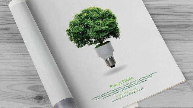 Print Ad: Green Power – Power Plants