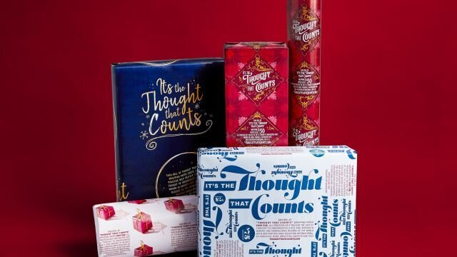 """It's The Thought That Counts"" wrapping paper gives the gift of education to girls in undeveloped nations."
