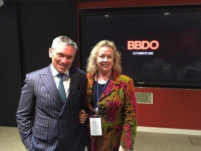 Johanna McDowell with BBDO global CEO, Andrew Robertson